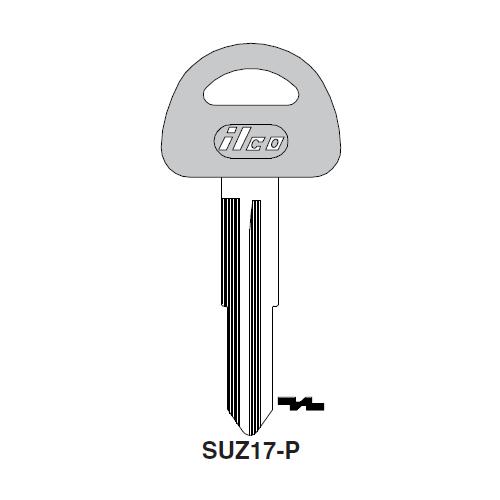 Ilco  SUZ17-P Suzuki Aotomobiles Plastic Head Key Blank; ( SUZ17,  X186 )