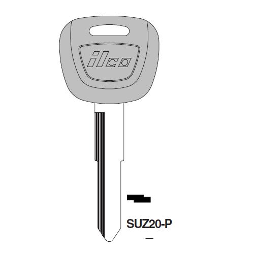 Ilco  SUZ20-P Suzuki Aotomobiles Plastic Head Key Blank