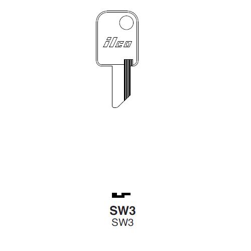 Ilco SW3 Key Blank : Sweda | International