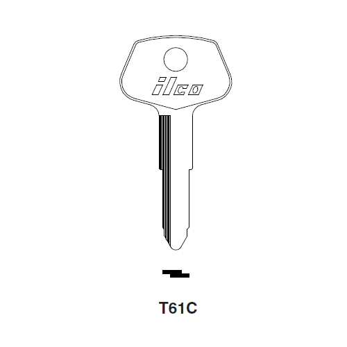 Ilco T61C, T61C-P Key Blank : Toyota