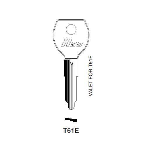 Ilco T61E Key Blank : Toyota