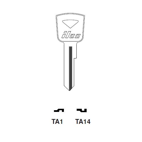 Ilco TA1 Key Blank : Toyota
