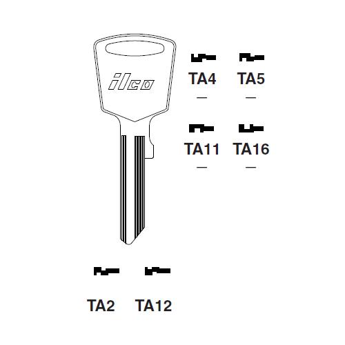 Ilco TA2 Key Blank : Toyota