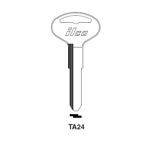 Ilco TA24 Key Blank : Toyota