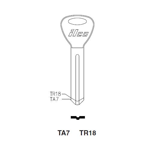 Ilco TR18 Key Blank : Toyota