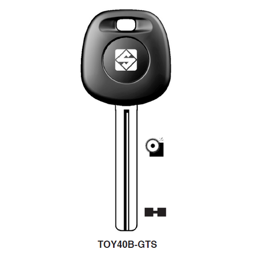 Ilco TOY40B-GTS Chipless Key Blank; LEXUS