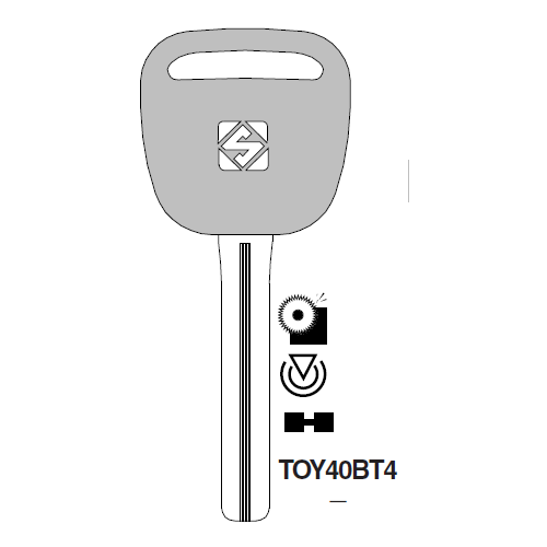 Ilco TOY40BT4 Transponder Key Blank; Lloyd