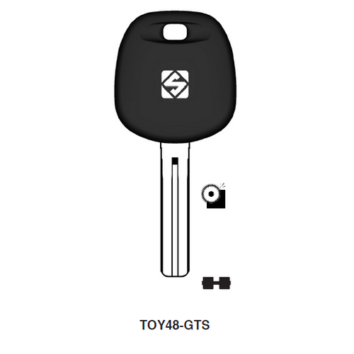 Ilco TOY48-GTS Chipless Key Blank; LEXUS