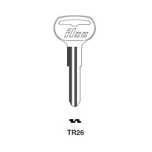 Ilco TR26 Key Blank : Toyota
