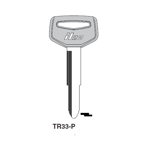 Ilco  TR33-P Hino, Toyota Plastic Head Key Blank; ( TR33,  X137 )