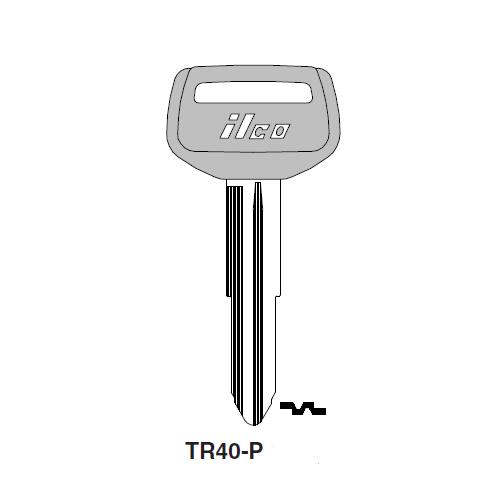 Ilco  TR40-P Daihatsu, Toyota Plastic Head Key Blank; ( TR40,  X174 )
