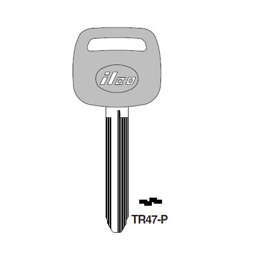 Ilco  TR47-P Toyota Plastic Head Key Blank; ( TR47,  X217 )