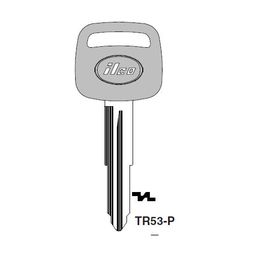 Ilco  TR53-P Toyota Plastic Head Key Blank; ( TR53,  X223 )