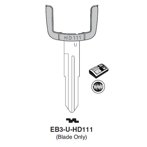 Ilco EB3-U-HD111 Honda, Acura Electronic Key Blade Only
