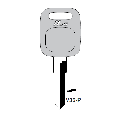 Ilco  V35-P Audi Plastic Head Key Blank; ( V35,  X139 )