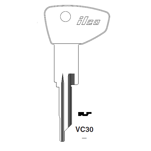 Ilco VC30 Key Blank : The Club, Mercury, Mariner Outboard