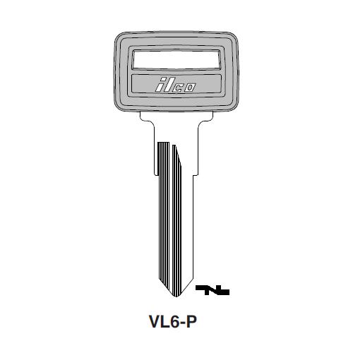 Ilco  VL6-P Volvo Plastic Head Key Blank; ( VL6,  X80 )