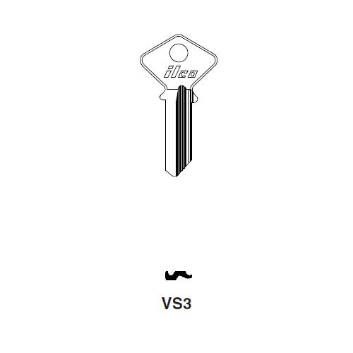 Ilco VS3 Key Blank : Vespa