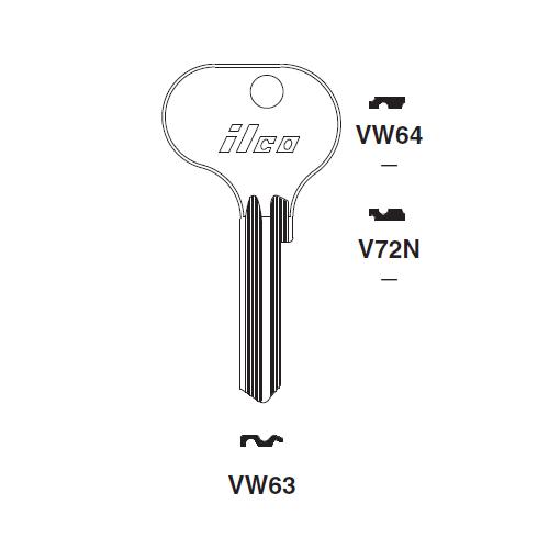 Ilco VW63 Key Blank : VW