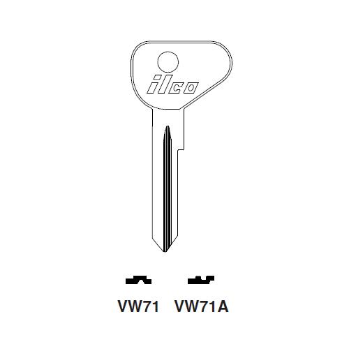 Ilco VW71 Key Blank : VW