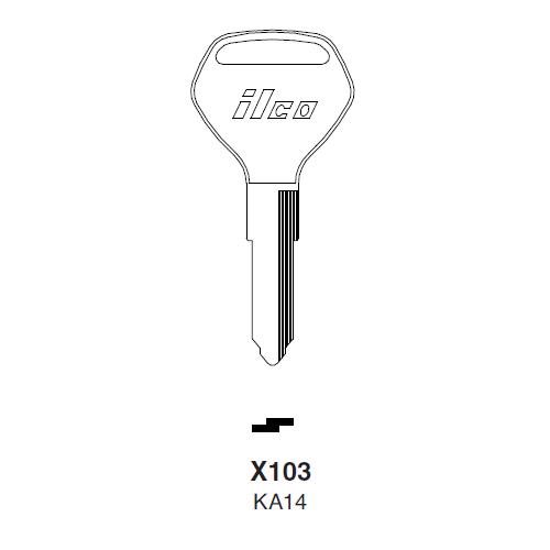 Ilco X103 (KA14) Key Blank : Kawasaki