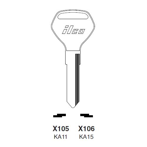 Ilco X105 (KA11) Key Blank : Kawasaki