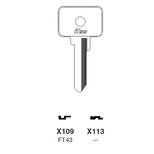 Ilco X113 Key Blank : Ford