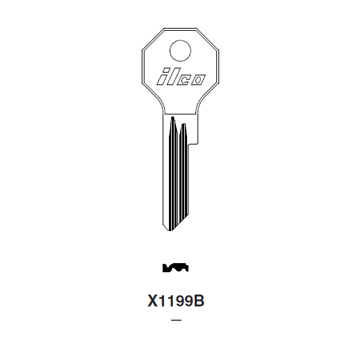 Ilco X1199B Key Blank : Chrysler