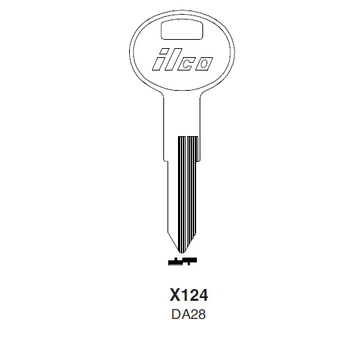 Ilco X124 (DA28) Key Blank : Infiniti, Nissan