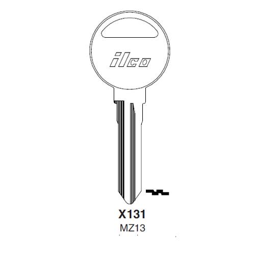 Ilco X131, MZ13-P (MZ13) Key Blank : Ford, Mazda