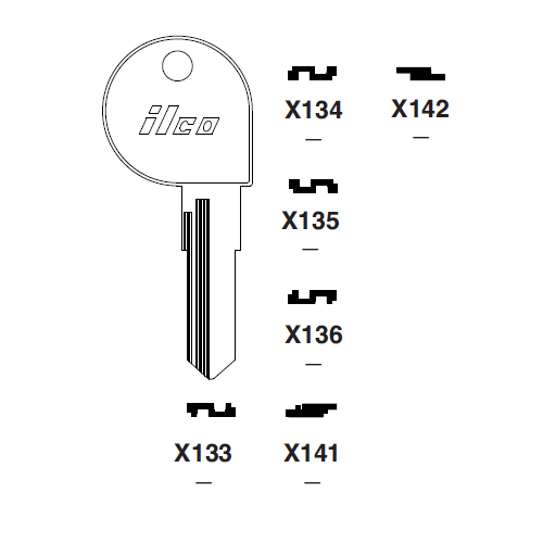 Ilco X136 Key Blank : Harley Davidson