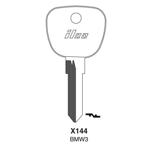 Ilco X144, BMW3-P (BMW3) Key Blank : BMW