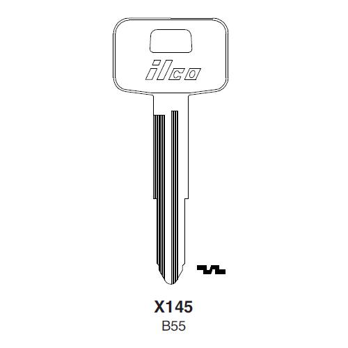 Ilco X145 (B55) Key Blank : General Motors