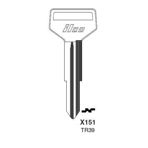 Ilco X151 (TR39) Key Blank : Toyota
