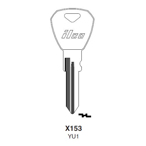 Ilco X153 (YU1) Key Blank : Yugo