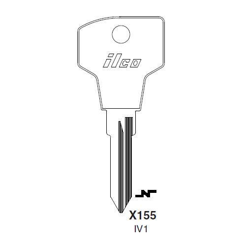 Ilco X155 (IV1) Key Blank : Iveco