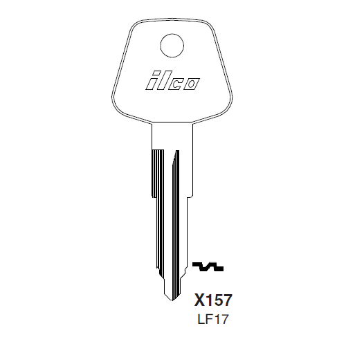 Ilco X157 (LF17) Key Blank : British Leyland, Iveco, Maserati, Rover