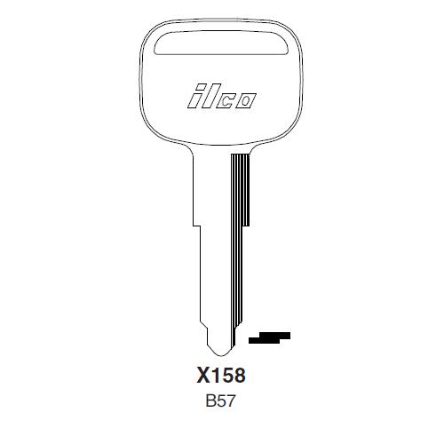Ilco X158 (B57) Key Blank : Isuzu