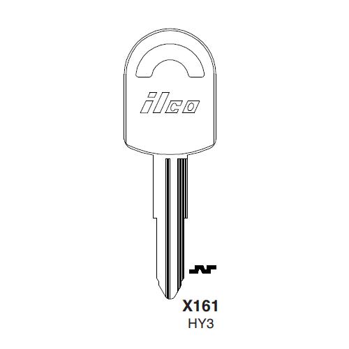 Ilco X161 (HY3) Key Blank : Hyundai