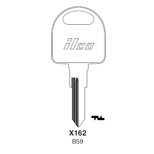 Ilco X162 (B59) Key Blank : General Motors