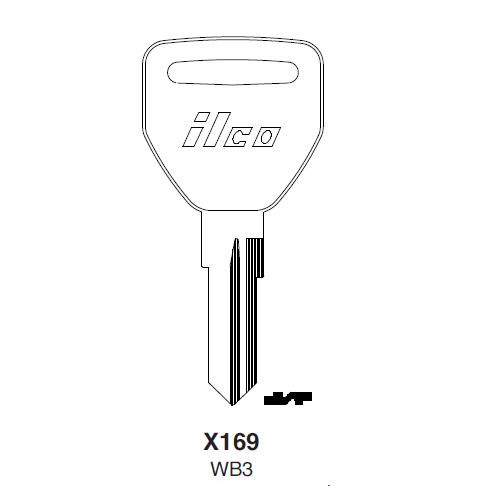 Ilco X169 (WB3) Key Blank : Ford