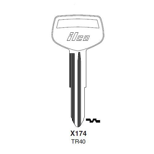 Ilco X174 (TR40) Key Blank : Daihatsu