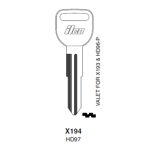 Ilco X194 (HD97) Key Blank : Acura