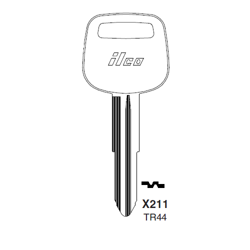 Ilco X211 (TR44) Key Blank : Toyota