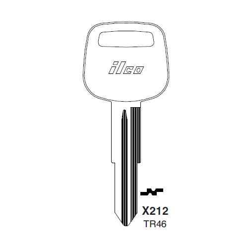 Ilco X212 (TR46) Key Blank : Toyota