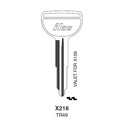 Ilco X218 (TR49) Key Blank : Toyota