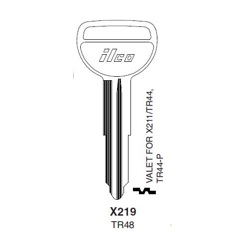 Ilco X219 (TR48) Key Blank : Ford