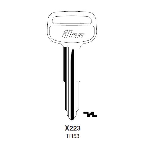 Ilco X223, TR53-P (TR53) Key Blank : Toyota