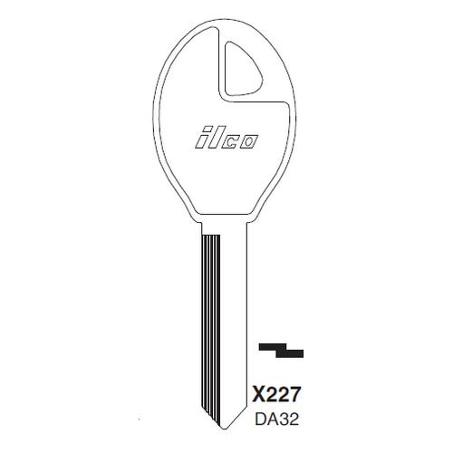 Ilco X227, DAT32-P (DA32) Key Blank : Nissan