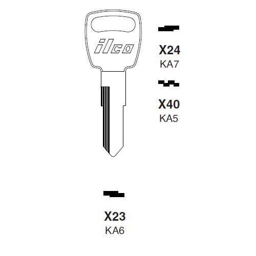 Ilco X23 (KA6) Key Blank : Kawasaki